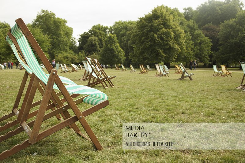 Deck Chairs in St. James's Park, London, England
