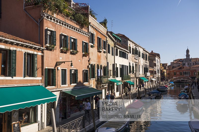 Buildings on Canal, Venice, Italy