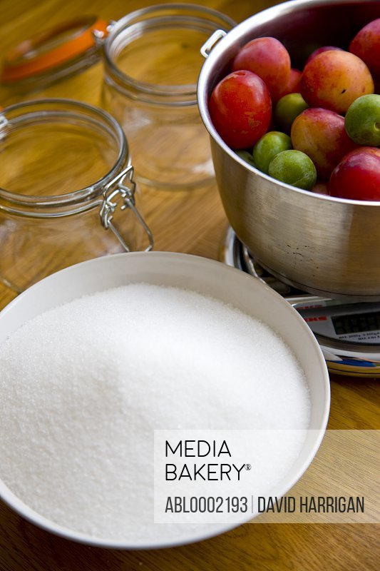 Jam Making Ingredients and Equipment