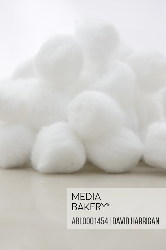 Close up of cotton balls