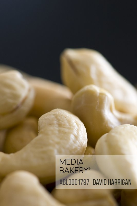 Extreme close up of cashews nuts