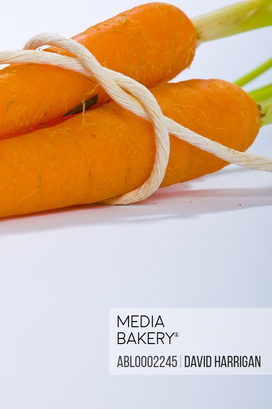 Carrots Tied up with String