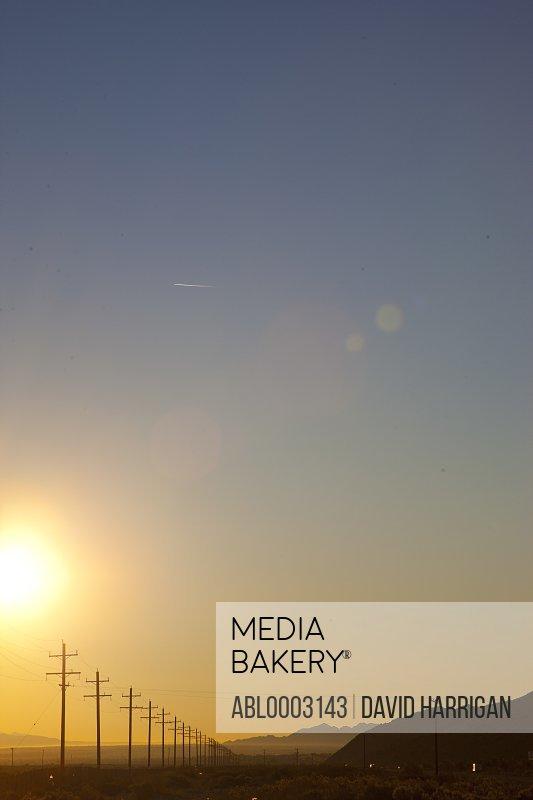 Electric Poles at Sunrise