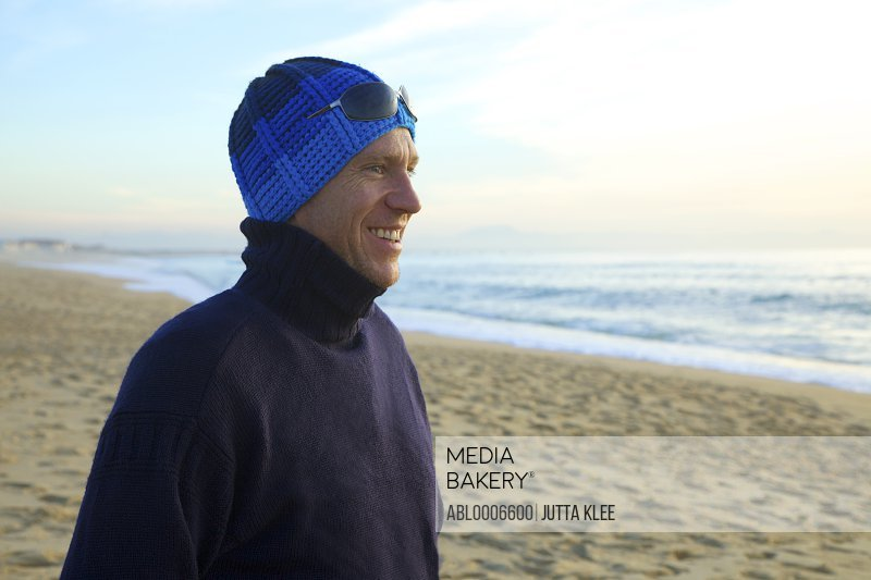 Smiling Man on a Beach