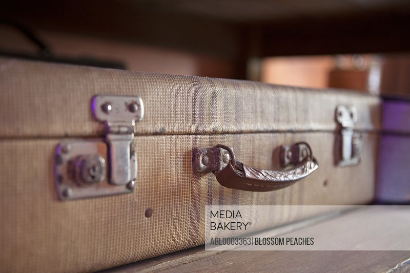 Old Fashioned Suitcase, Close-up View