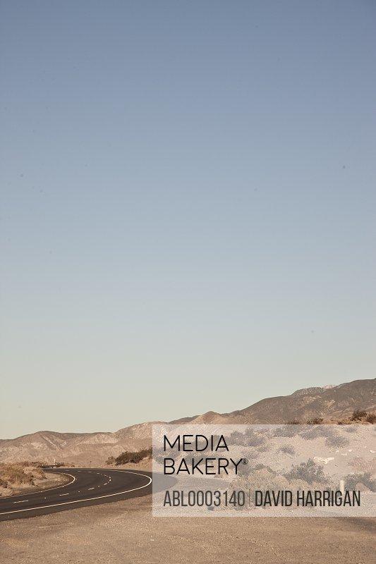 Empty Desert Road, Palm Springs, California, USA