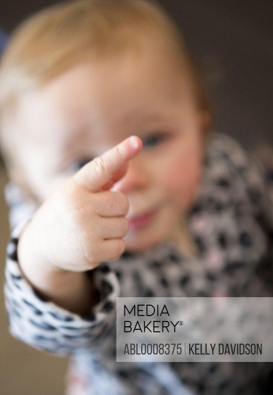 Baby Girl Pointing Finger