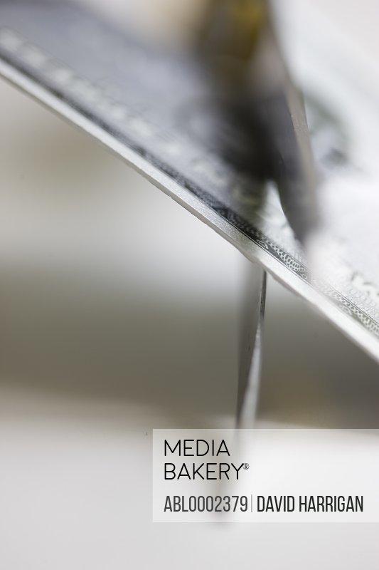 Scissors Blades Cutting Credit Card