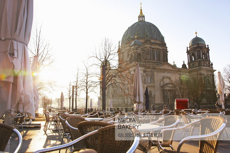 Outdoor Cafe and Cathedral, Berlin, Germany