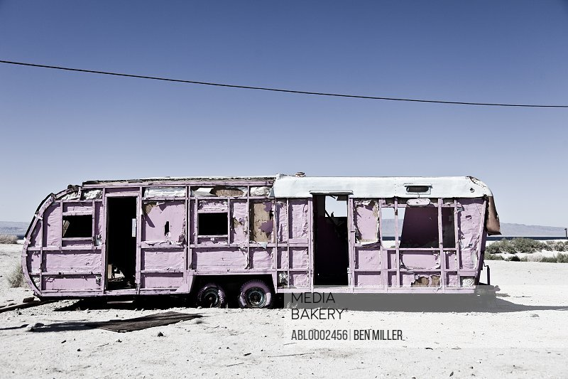 Abandoned Pink Trailer