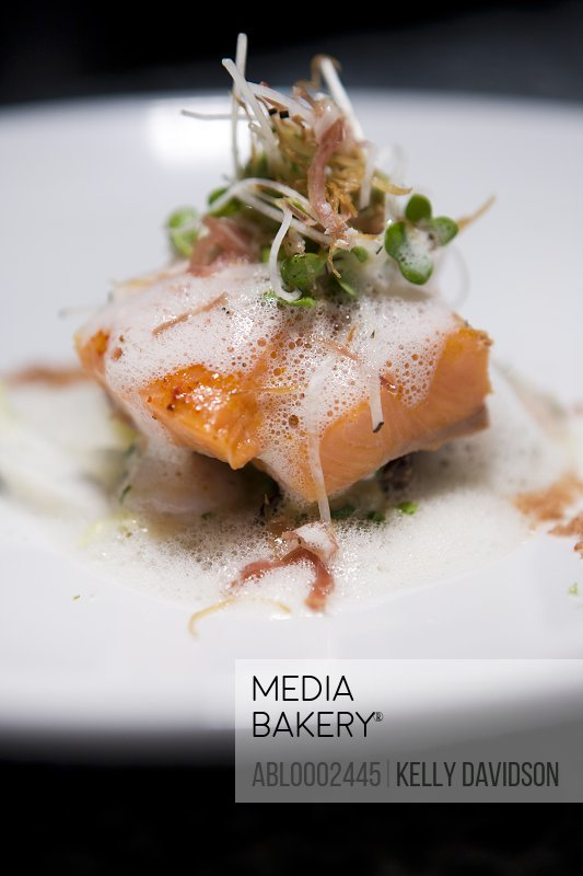 Salmon with Watercress Emulsion
