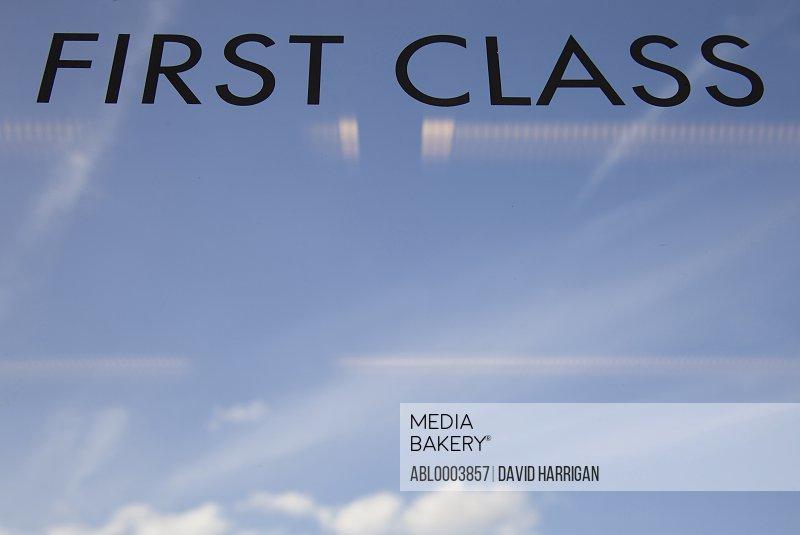 View of Sky through First Class Train Window