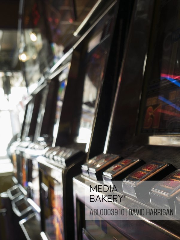 Close up of Slot Machines