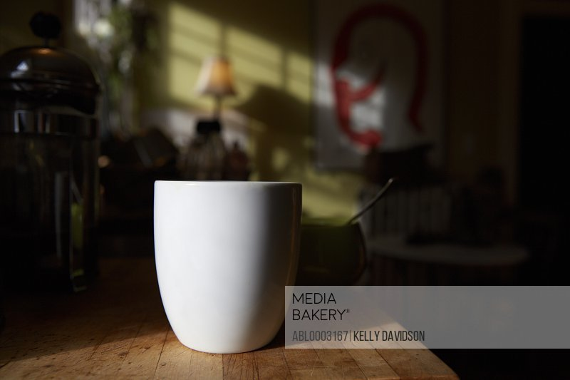 Coffee Mug on Kitchen Counter