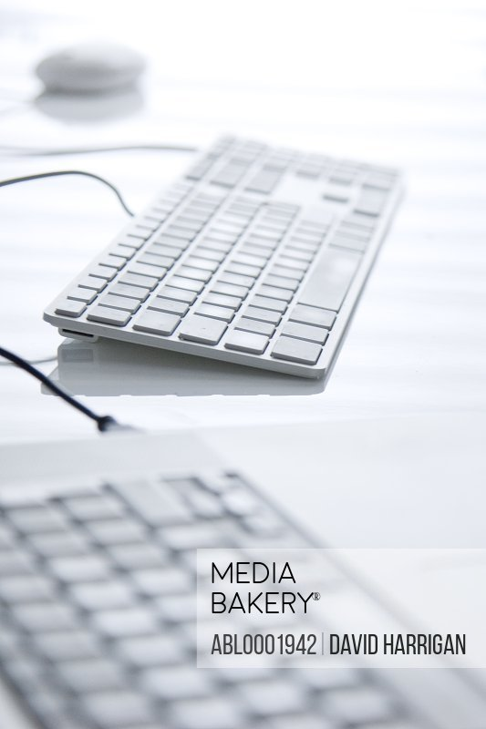 Close up of two computer keyboards