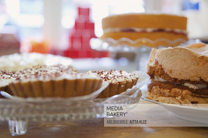 Shop Interior with Tarts and Cakes