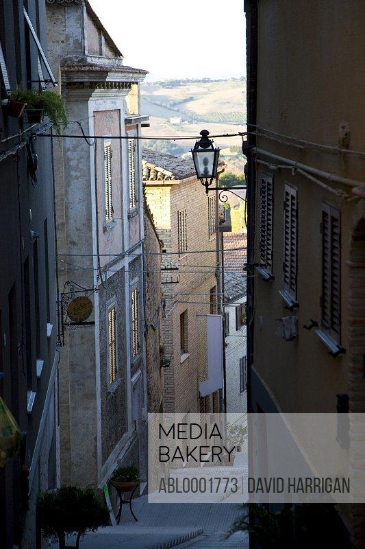 Narrow street in Potenza Picena - Italy