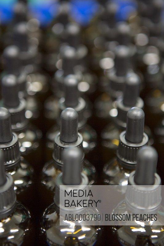 Rows of Dropper Bottles