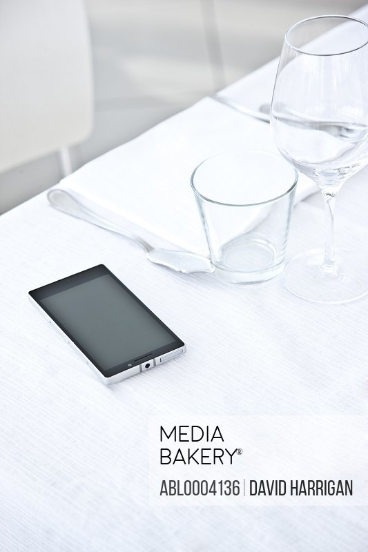 Place Setting with Smartphone