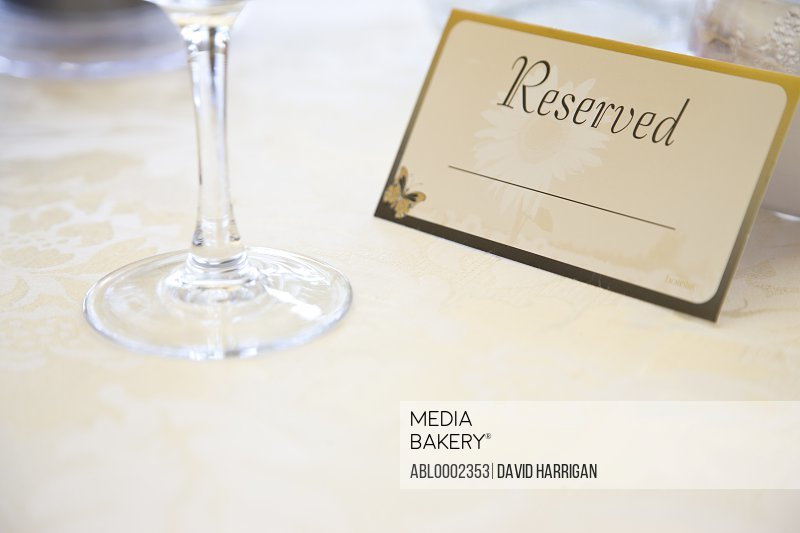 Place Setting and Reserved Sign