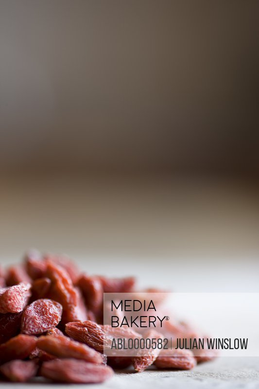 Close up of pile of goji berries