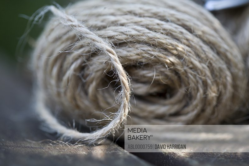 Extreme close up of a bundle of string