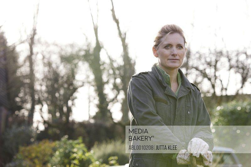 Portrait of Woman Gardener