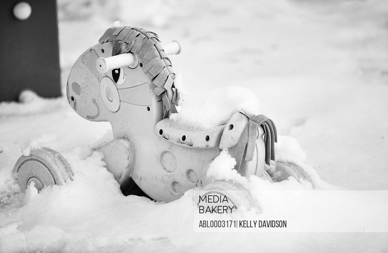 Toy Horse in Snow