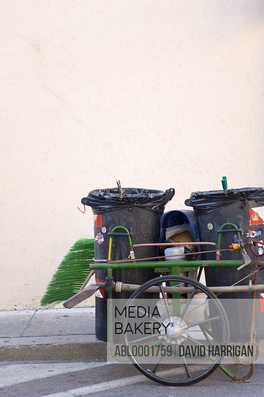 Road sweep trolley