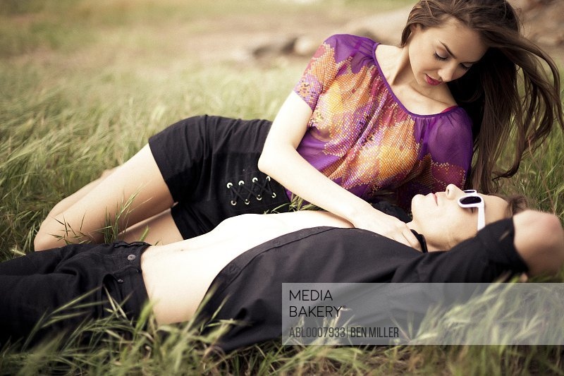 Young Couple In a Meadow