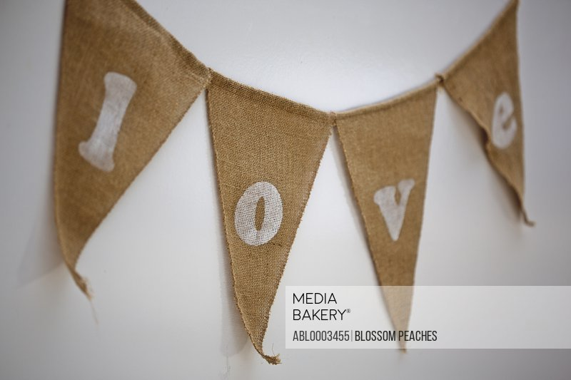 Bunting with Love Lettering