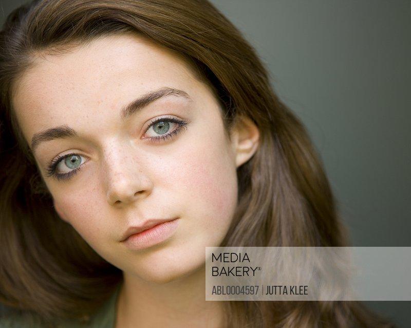 Portrait of young teen girl