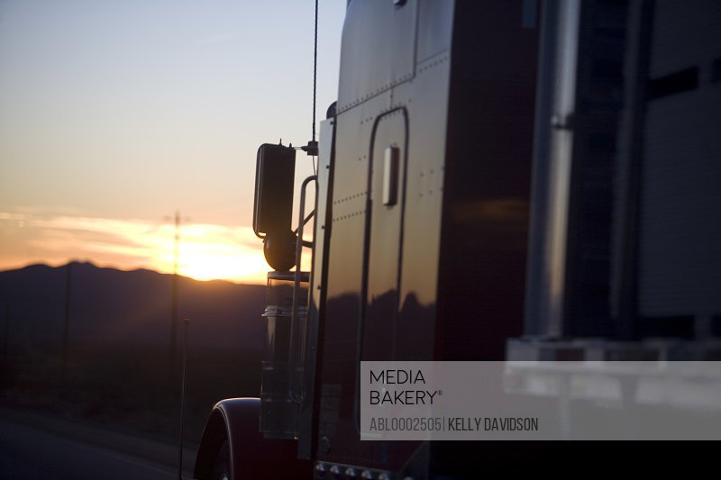 Truck at Sunset, Close-up view