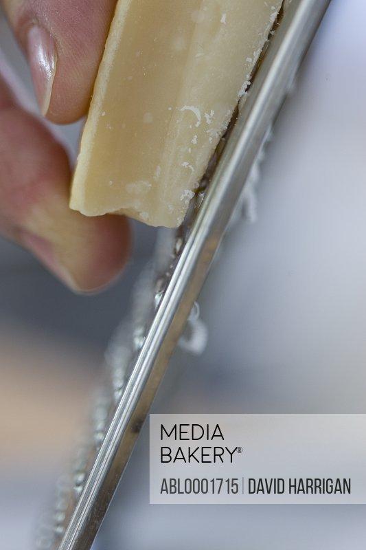 Grating parmesan cheese