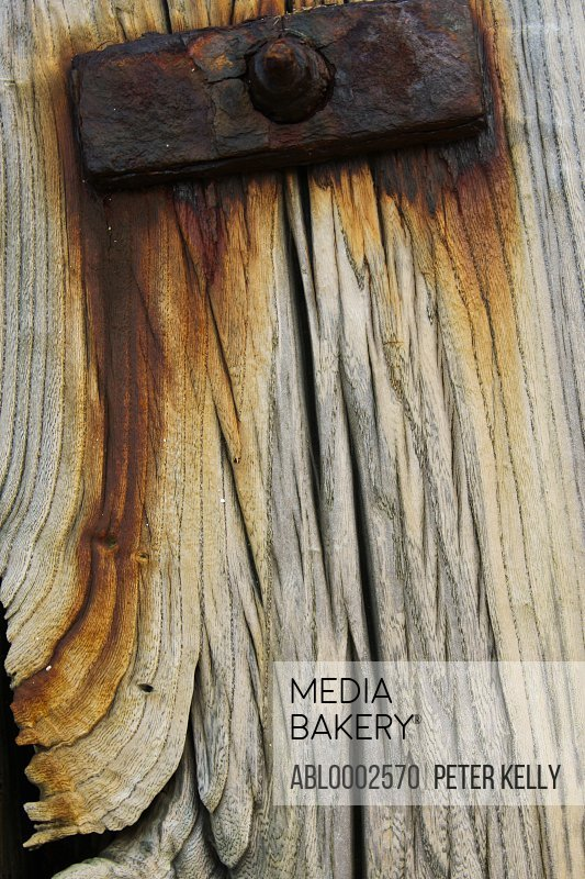 Rusting Wood and Metal Bolt