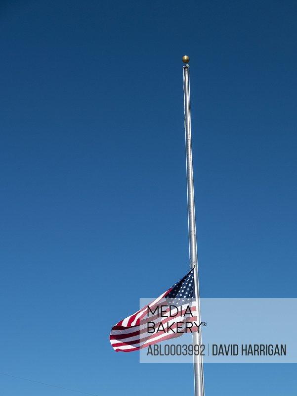 American Flag Flying at Half Mast