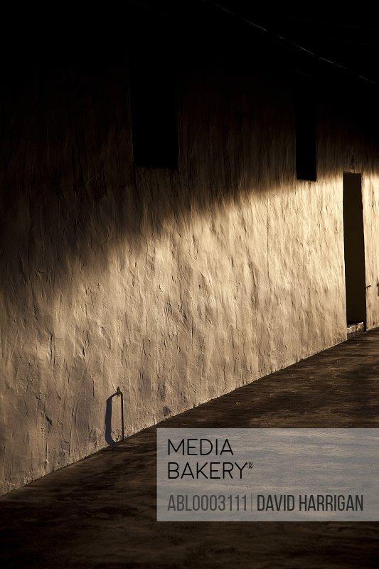 Sunlight on Exterior Wall and Door
