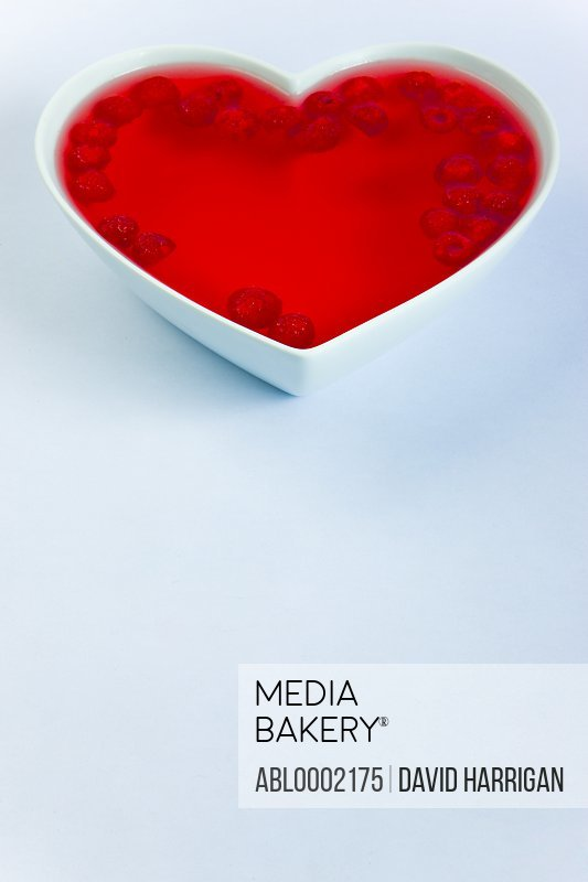 Raspberry Jelly in Heart Shaped Bowl