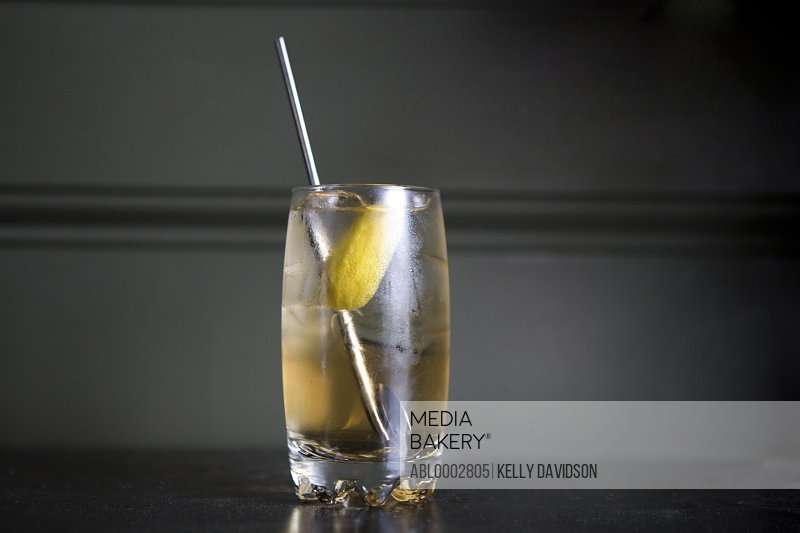 Chilled Drink with Cocktail Spoon