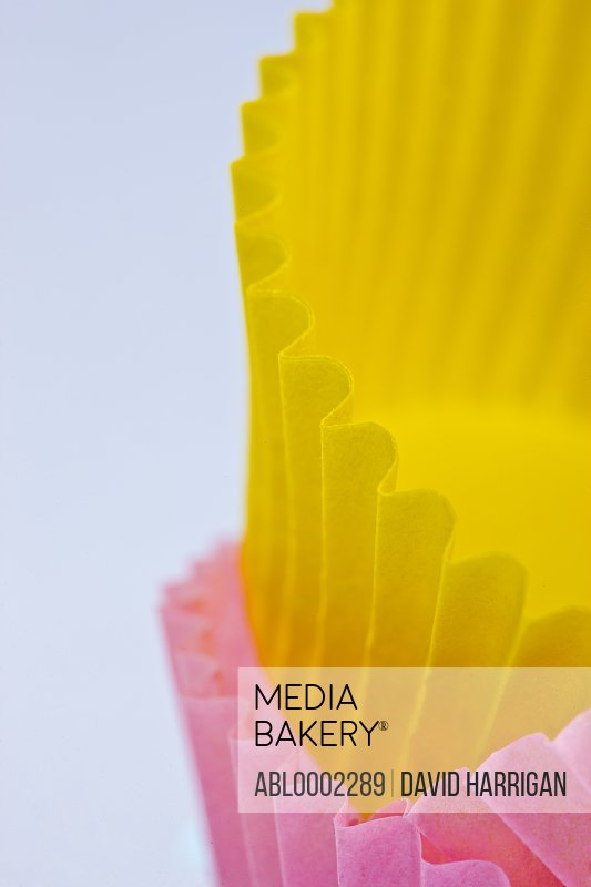 Yellow and Pink Cake Cases