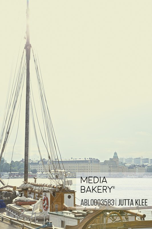 Detail of Sailboat in Stockholm's Harbour