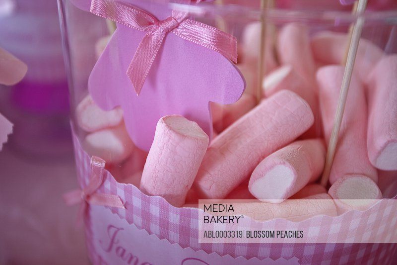Pink Marshmallows, Close-up View