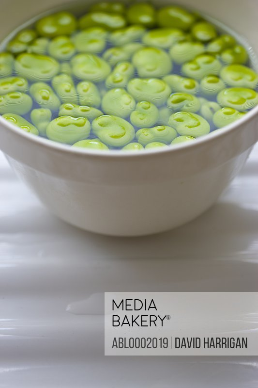 Broad Beans in Bowl Full of Water