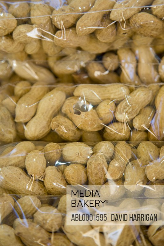 Peanuts wrapped in cellophane