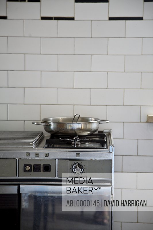 Stainless steel cooking stove with pan