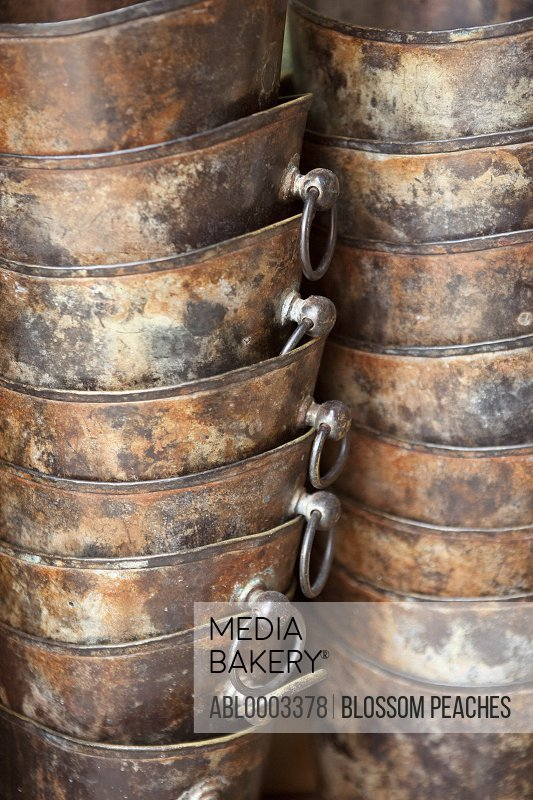 Stack of Champagne Buckets, Full Frame