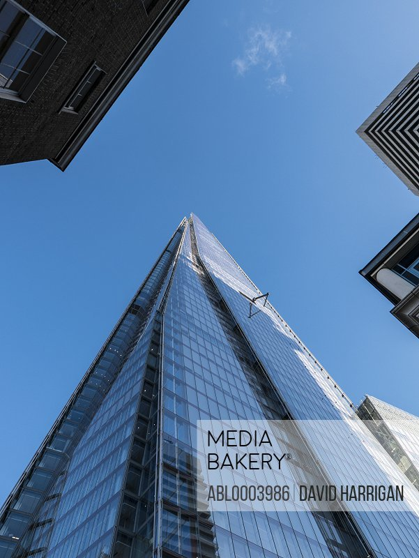 The Shard, London, England, UK, Low angle view,