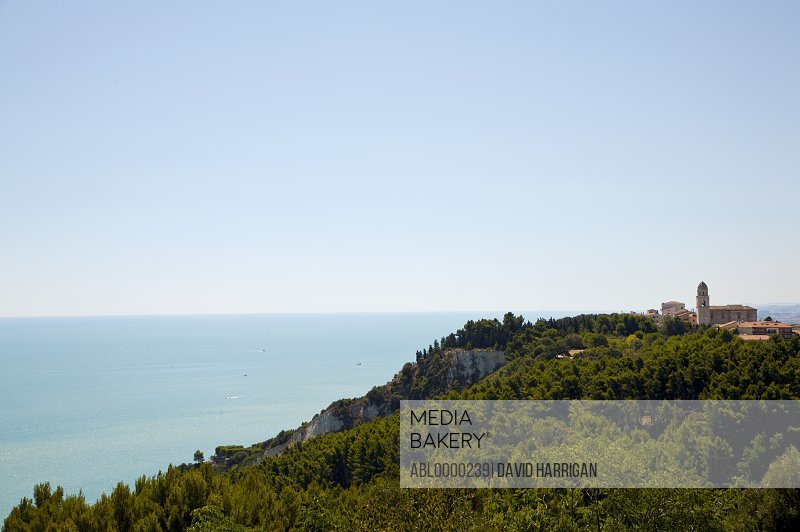 Adriatic sea with view of Sirolo