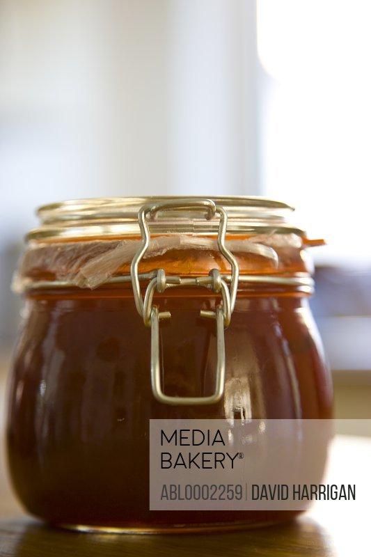 Jar of Homemade Jam - Close-up view