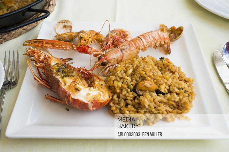 Paella with Lobster and Langoustines